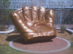 Gold Glove sculpture.JPG