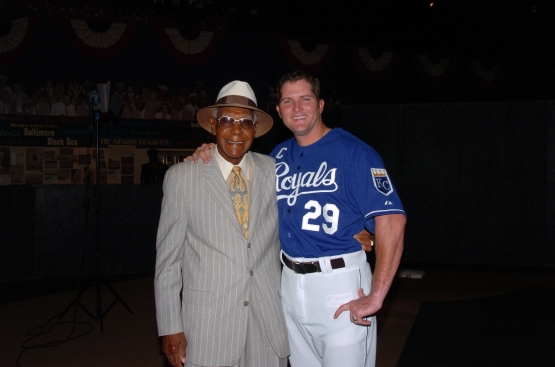 Mike Sweeney with the great Buck O'Neil.