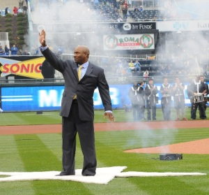 Fan favorite Bo Jackson returned to Kauffman Stadium on Opening Day, 2011.