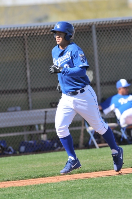 20-year old prospect Cheslor Cuthbert impressed with a home run.