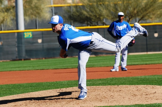 "This is a great site!  Danny Duffy throws off the mound as he continues his recovery from ""Tommy John"" surgery."