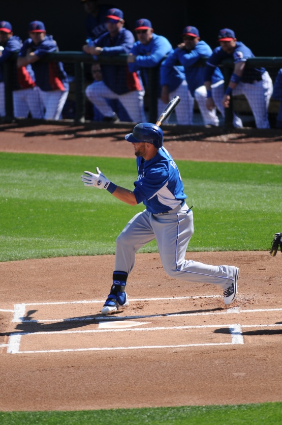 The Royals were the visitors today.  Alex Gordon began the spring with a single.