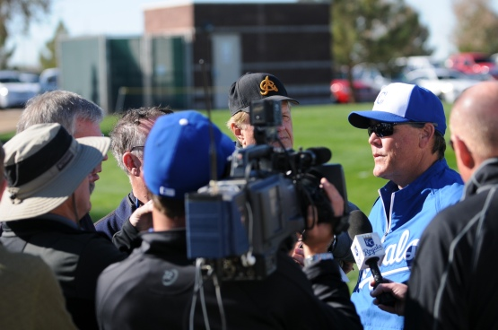 Gameday is here!  Manager Ned Yost held his daily morning media briefing.