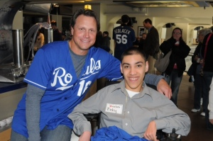 Former Royals third baseman Joe Randa with Ricky Hernandez.