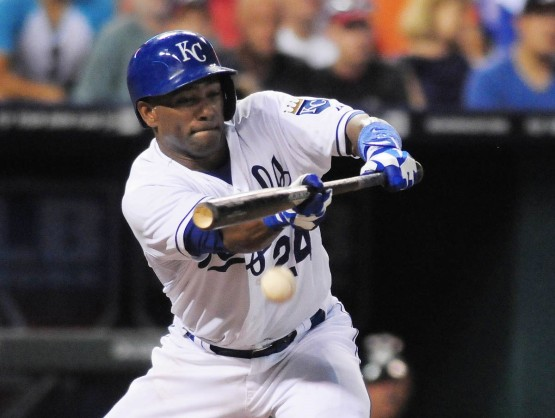 Miguel Tejada, who has 306 Major League home runs, dropped down this bunt, moving Lough to second.