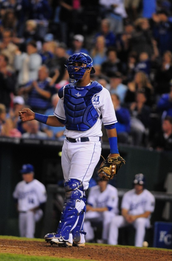 Salvador Perez is a Rawlings Gold Glove finalist for the first time.