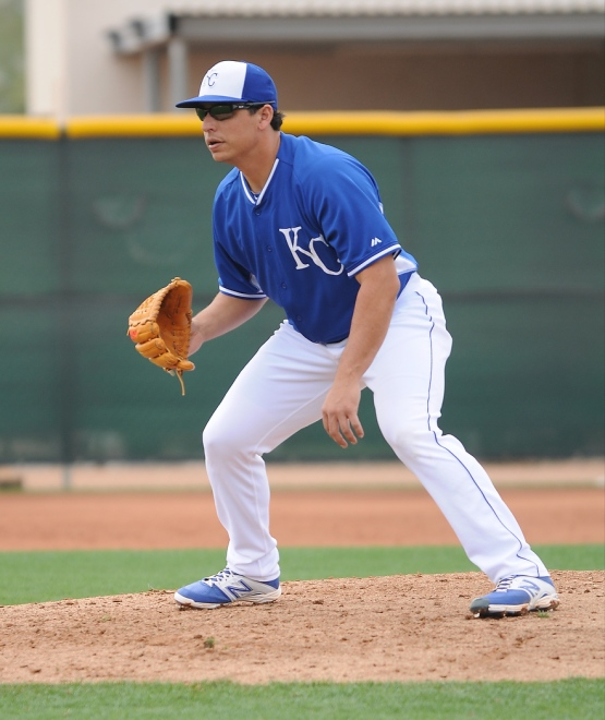 Jason Vargas in his ready position.