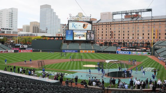 Orioles-Royals ALCS  at Camden Yards
