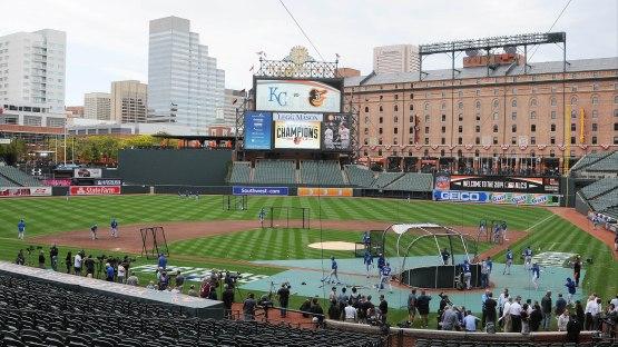 Orioles-Royals ALCS  at Camden Yards